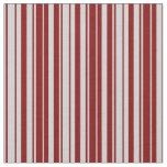 [ Thumbnail: Light Grey & Maroon Stripes Pattern Fabric ]