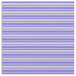 [ Thumbnail: Light Grey & Medium Slate Blue Colored Stripes Fabric ]