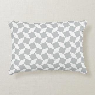 Light Grey Op Art Pattern Accent Pillow