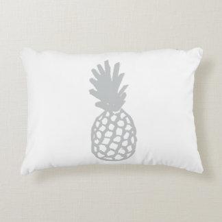 Light Grey Pineapple Accent Pillow