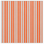 [ Thumbnail: Light Grey & Red Colored Pattern of Stripes Fabric ]