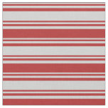 [ Thumbnail: Light Grey & Red Colored Stripes Fabric ]