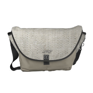 Light Grey Rickshaw Messenger Canvas Bag