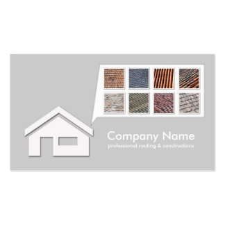 Light Grey Roofing Constructions Card Business Card Template