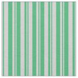 [ Thumbnail: Light Grey & Sea Green Pattern Fabric ]