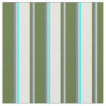 [ Thumbnail: Light Grey, Slate Gray, Olive Green, White & Aqua Fabric ]