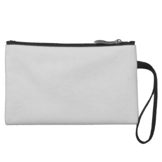 Light Grey Suede Wristlet
