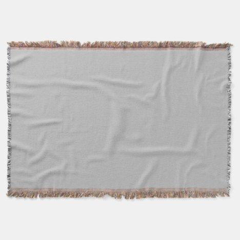 Light Grey Throw Blanket
