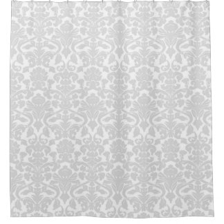 light gray shower curtain. Light Grey White Floral Damask Shower Curtain Curtains  Zazzle