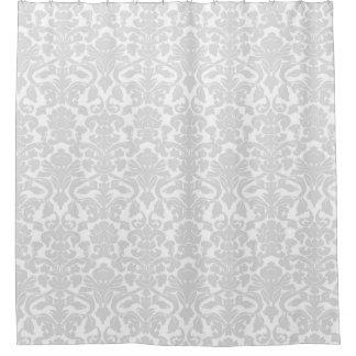 Grey Damask Shower Curtains Zazzle
