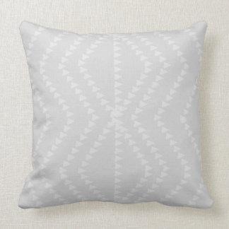 Light Grey White Geometric Arrows Pillow