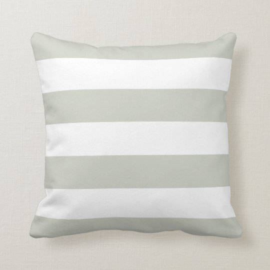 Light Grey & White Striped Pillow