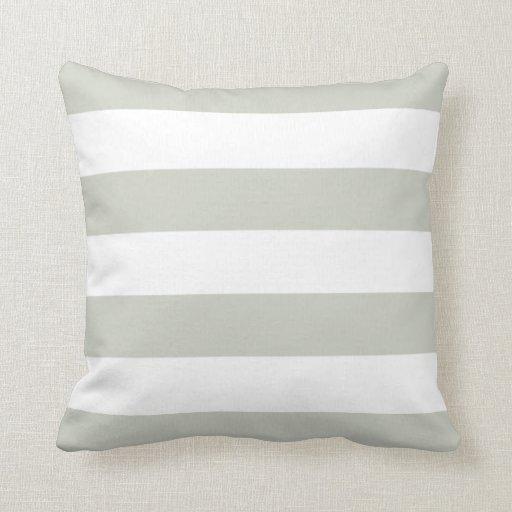 light grey white striped pillow zazzle. Black Bedroom Furniture Sets. Home Design Ideas