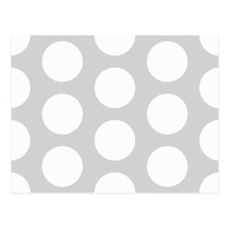 Light Grey with Dots Postcard