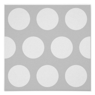 Light Grey with Dots Poster