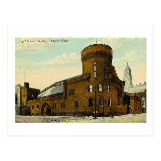 Light Guard Armory Detroit, Michigan Postcard