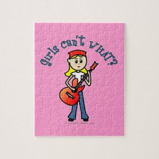 Light Guitar Girl Puzzles