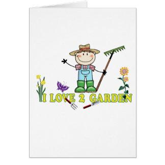 Light Guy Farmer Brunette I Love 2 Garden Card