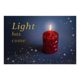 Light has come Christian poster design