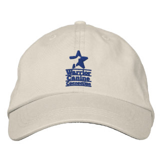Light hat, navy WCC logo Embroidered Baseball Cap