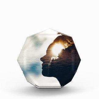 Light head acrylic award