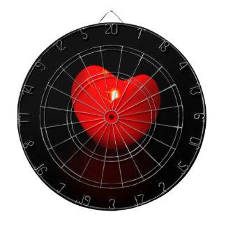 Light heart . dartboard
