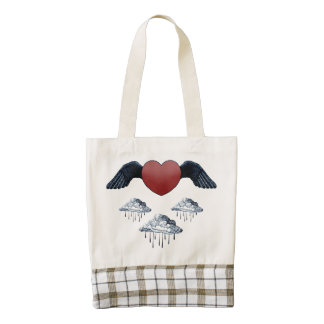 Light Hearted & Above It All Zazzle HEART Tote Bag