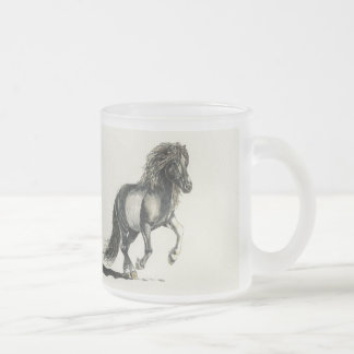 Light Hearted Icelandic Frosted Glass Coffee Mug