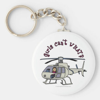 Light Helicopter Girl Keychain