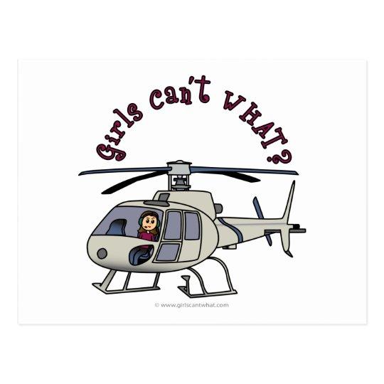 Light Helicopter Girl Postcard
