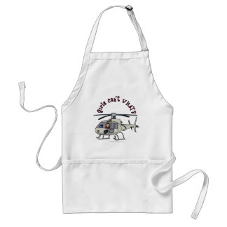 Light Helicopter Pilot Girl Adult Apron