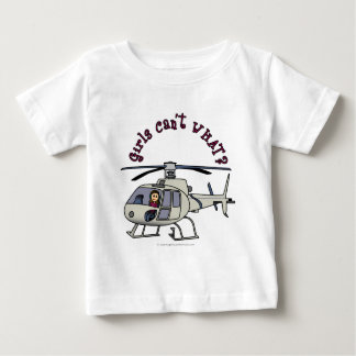 Light Helicopter Pilot Girl Baby T-Shirt