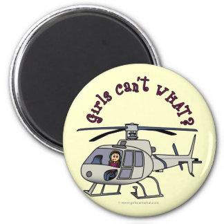 Light Helicopter Pilot Girl Magnet