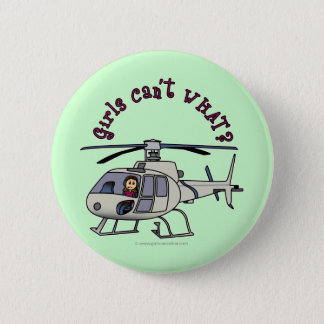 Light Helicopter Pilot Girl Pinback Button