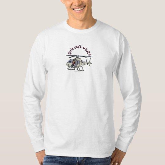 Light Helicopter Pilot Girl T-Shirt