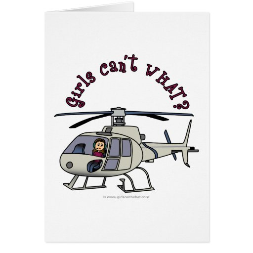 LIght Helicopter Pilot Greeting Cards