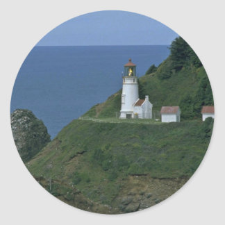 Light House At The Mountain Classic Round Sticker