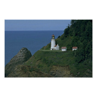 Light House At The Mountain Poster