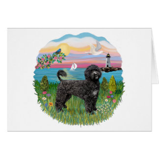 Light House-black Portie PWD standing Card