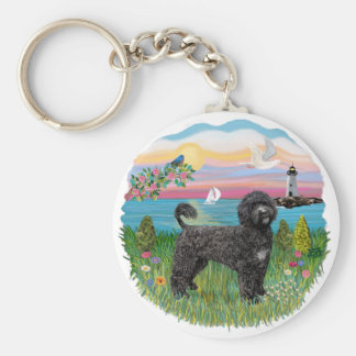Light House-black Portie PWD standing Key Chains