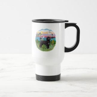 Light House-black Portie PWD standing Coffee Mug