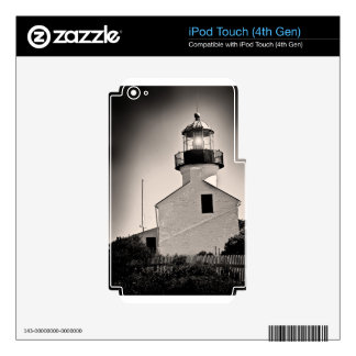 Light House - Cabrillo in BW Decal For iPod Touch 4G