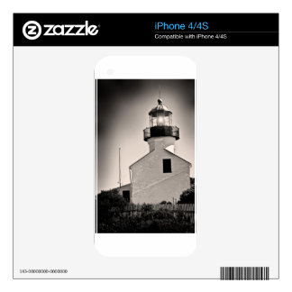 Light House - Cabrillo in BW iPhone 4S Skin