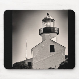 Light House - Cabrillo in BW Mouse Pad