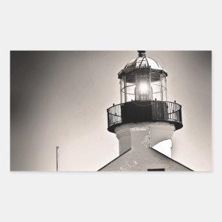 Light House - Cabrillo in BW Rectangular Sticker