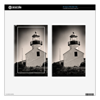 Light House - Cabrillo in BW Skins For Kindle Fire