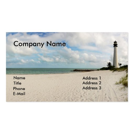 Light house in miami business card zazzle for Miami business cards