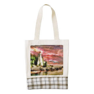 Light House Living the Dream Zazzle HEART Tote Bag