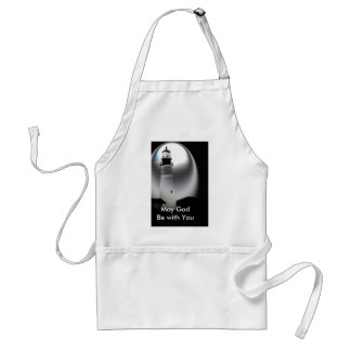 Light House, May God Be with You Adult Apron