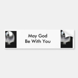 Light House, May God Be with You Car Bumper Sticker